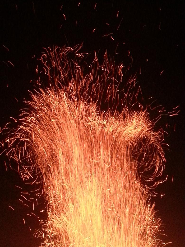 Feuerwerk Funktenwurf
