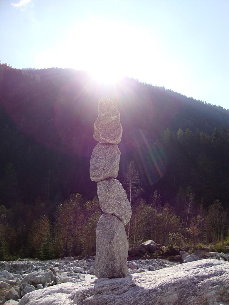 Steinmannli in der Sonne