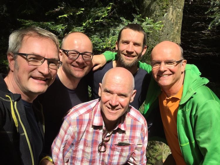 """""""Team-Treffen vom 13. Mai 2017 – es fehlt Pablo Behrens"""" (Foto: Johannes Kunz)"""